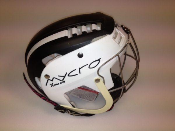 Hurling Helmet Mycro Black White Stripes