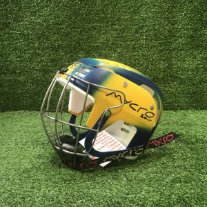 Hurling Helmet Mycro Yellow Blue Faded