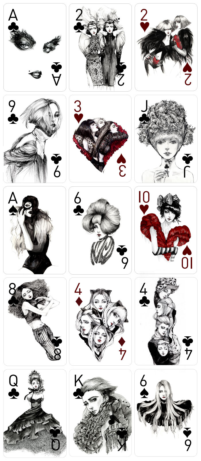 Kickstarter: Decked Out Fashion Playing Cards by Connie