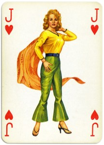 Pinup cards by Piatnik Baby Dolls from 1956 – Jack of hearts