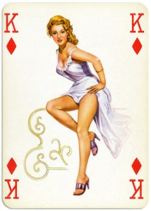 Pinup cards by Piatnik Baby Dolls from 1956 – King of diamonds