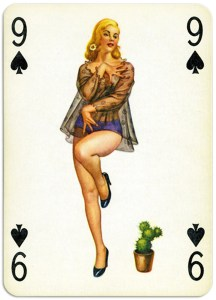 Pinup cards by Piatnik Baby Dolls from 1956 Nine of spades