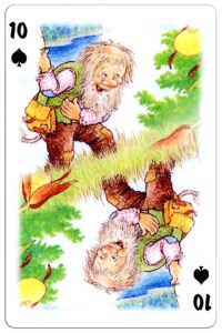 #PlayingCardsTop1000 – 10 of spades Trolls cartoons playing cards by Rolf Lidberg