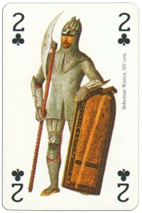 #PlayingCardsTop1000 – 2 of clubs Renaissance clothes card