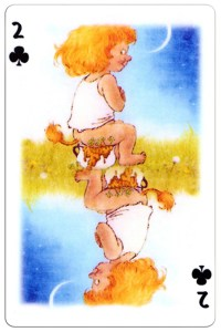 2 of clubs Trolls cartoons playing cards by Rolf Lidberg