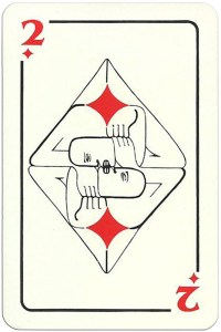 2 of diamonds Modernist artistic style cards from Russia
