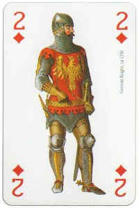 2 of diamonds Modiano deck Middle Ages