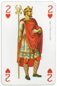 2 of hearts Modiano deck Middle Ages