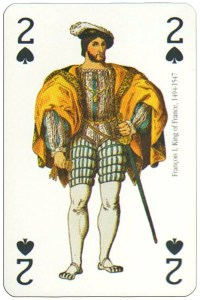 #PlayingCardsTop1000 – 2 of spades Renaissance clothes card