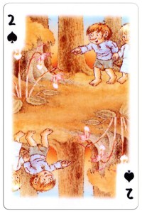 2 of spades Trolls cartoons playing cards by Rolf Lidberg