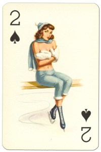 "2 of spades Van Genechten Glamour Girls pinup cards<span class=""rmp-archive-results""><i class=""star-highlight rmp-icon rmp-icon-star""></i><i class=""star-highlight rmp-icon rmp-icon-star""></i><i class=""star-highlight rmp-icon rmp-icon-star""></i><i class=""rmp-icon rmp-icon-star""></i><i class=""rmp-icon rmp-icon-star""></i> <span>3 (1)</span></span>"