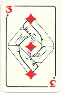 3 of diamonds Modernist artistic style cards from Russia