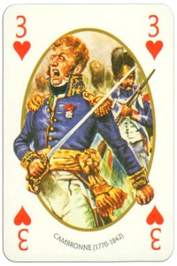 #PlayingCardsTop1000 – 3 of hearts Face et Dos deck Empire by Carta Mundi