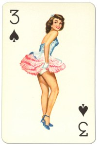 """3 of spades Van Genechten Glamour Girls pinup cards<span class=""""rmp-archive-results""""><i class=""""star-highlight rmp-icon rmp-icon-star""""></i><i class=""""star-highlight rmp-icon rmp-icon-star""""></i><i class=""""star-highlight rmp-icon rmp-icon-star""""></i><i class=""""rmp-icon rmp-icon-star""""></i><i class=""""rmp-icon rmp-icon-star""""></i> <span>3 (1)</span></span>"""