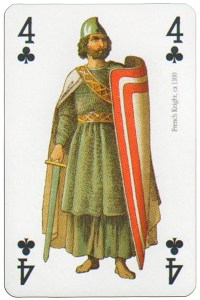 4 of clubs Modiano deck Middle Ages