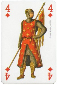 "#PlayingCardsTop1000 – 4 of diamonds Modiano deck Middle Ages<span class=""rmp-archive-results""><i class=""star-highlight rmp-icon rmp-icon-star""></i><i class=""star-highlight rmp-icon rmp-icon-star""></i><i class=""star-highlight rmp-icon rmp-icon-star""></i><i class=""star-highlight rmp-icon rmp-icon-star""></i><i class=""star-highlight rmp-icon rmp-icon-star""></i> <span>5 (1)</span></span>"