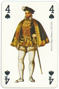 #PlayingCardsTop1000 – 4 of spades Renaissance clothes card