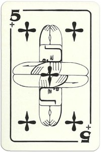 5 of clubs Modernist artistic style cards from Russia