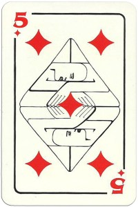 5 of diamonds Modernist artistic style cards from Russia