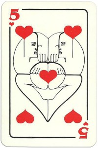 5 of hearts Modernist artistic style cards from Russia