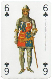 6 of clubs Modiano deck Middle Ages