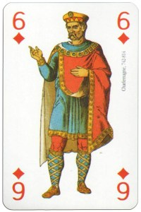 6 of diamonds Modiano deck Middle Ages