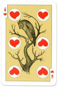 #PlayingCardsTop1000 – 6 of hearts dark power Russian fairy tale cards