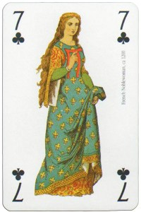 7 of clubs Modiano deck Middle Ages