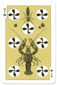 #PlayingCardsTop1000 – 7 of clubs dark power Russian fairy tale cards