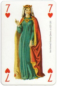 7 of hearts Modiano deck Middle Ages