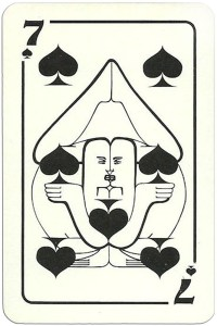 7 of spades Modernist artistic style cards from Russia