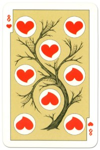 8 of hearts dark power Russian fairy tale cards