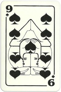 9 of spades Modernist artistic style cards from Russia