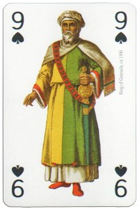 9 of spades Modiano deck Middle Ages