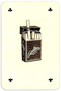 Ace of clubs Casablanca tobacco brand cards