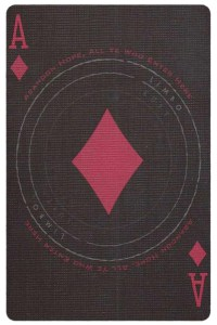 #PlayingCardsTop1000 – Ace of diamonds card from Inferno by Gustave Dore deck Bycycle