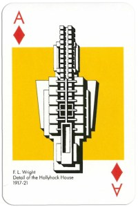 #PlayingCardsTop1000 – Ace of diamonds from deck Play Architecture Finnish Building Centre Rakennustieto Oy