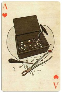 Ace of hearts Edgar Allan Poe deck of playing cards by Bicycle