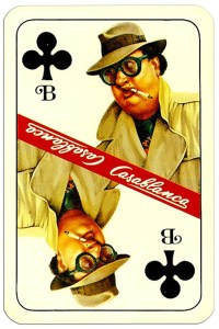 Jack of clubs Casablanca tobacco brand cards