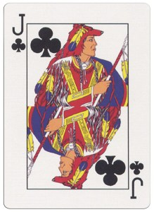 Jack of clubs deck for indian casinos in the USA