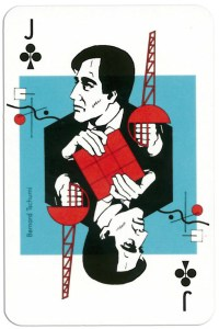 #PlayingCardsTop1000 – Jack of clubs from deck Play Architecture Finnish Building Centre Rakennustieto Oy
