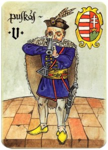 Jack of diamonds Charta Bellica Hungarian cards