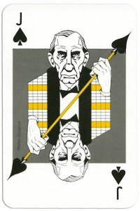 Jack of spades from deck Play Architecture Finnish Building Centre Rakennustieto Oy