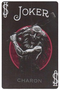 Joker 2 card from Inferno by Gustave Dore deck Bycycle