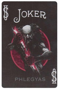 Joker card from Inferno by Gustave Dore deck Bycycle