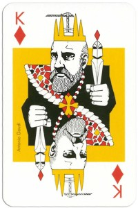 #PlayingCardsTop1000 – King of diamonds from deck Play Architecture Finnish Building Centre Rakennustieto Oy