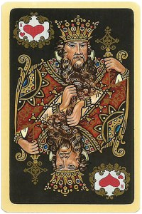#PlayingCardsTop1000 – King of hearts Chernyi Paleh Russian style black cards