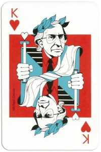 King of hearts from deck Play Architecture Finnish Building Centre Rakennustieto Oy