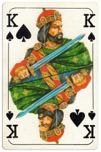 #PlayingCardsTop1000 – King of spades Bulgarian Dunav bridge cards