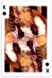 King of spades Trolls cartoons playing cards by Rolf Lidberg